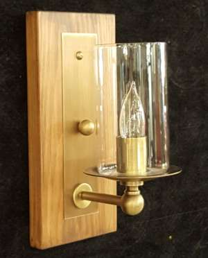 Wooden Sconce