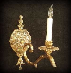 Long Brass Sconce